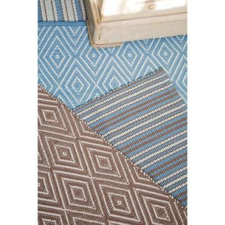 Dash and Albert Rugs Woven Diamond Slate/Light Blue Rug