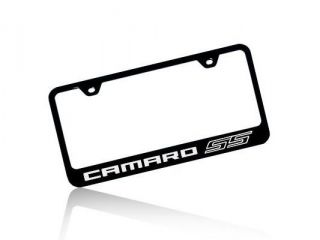 Chevrolet 2010 Camaro SS Black Steel License Plate Frame