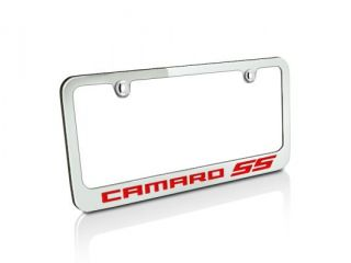 Chevrolet 2010 up Red Camaro SS Chrome Metal Auto License Plate Frame