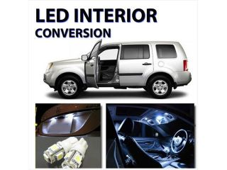 11pcs Bright WHITE LED Lights Interior Kit for Honda Pilot 2009 2012