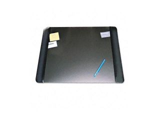 Artistic Executive Desk Pad with Leather Like Side Panels, 24 x 19, Black
