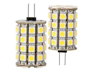 G4 Warm White 49 5050 SMD LED Camper Marine Boat Spot Light Lamp Bulb AC/DC