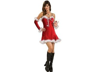 Sexy Santa Baby Red Christmas Dress Adult Costume Medium