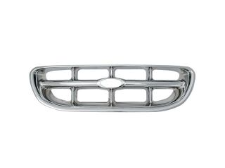 Bully Chrome Grille for a 98 01 FORD EXPLORER 1pc OVERLAY STYLE  CLIP ON ONLY Grille Insert GI 09