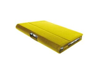"Stunning Appearance Slim Fits,  Kindle Fire HD 7"" Case, Leather Flip Cover, Stand Holder, Yellow (Generic)"