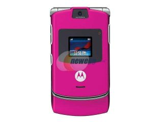 MOTOROLA RAZR V3 Pink Unlocked Cell Phone with no Manufacturer warranty