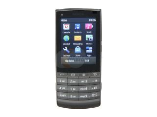 Nokia Touch and Type Dark Metal 3G Unlocked GSM Touch Screen Phone with 5MP Camera / Wi Fi (X3 02)