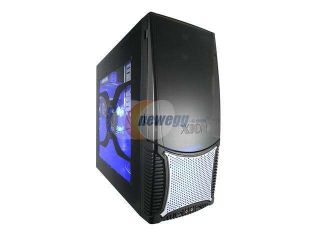 XION Dazl XON 503 Black with Blue LED Light Steel ATX Mid Tower Computer Case