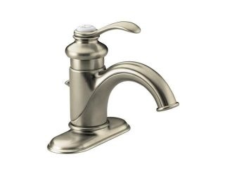 KOHLER K 12181 BN Fairfax Single control Lavatory Faucet With Lever Handle And Pop up Drain Brushed Nickel  Bathroom Faucet