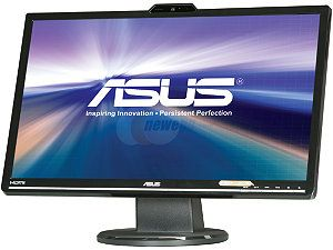 "ASUS VK248H CSM Black 24"" 2ms (GTG) HDMI Widescreen LED Backlit LCD Monitor 250 cd/m2 ASCR 50000000:1 Built in Speakers&Webcam"