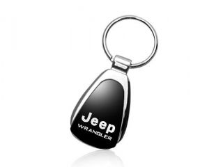 Jeep Wrangler Black Tear Drop Key Chain