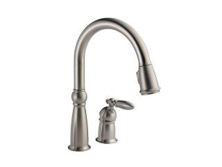 DELTA 955 SS DST Victorian Single Handle Pull Down Kitchen Faucet Stainless  Kitchen Faucet
