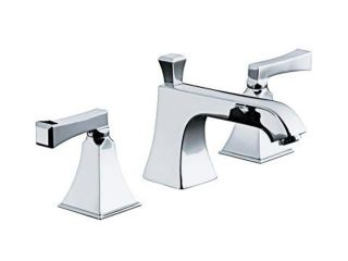 KOHLER K 454 4V CP Memoirs Widespread Lavatory Faucet with Stately Design and Deco Lever Handles Polished Chrome  Bathroom Faucet