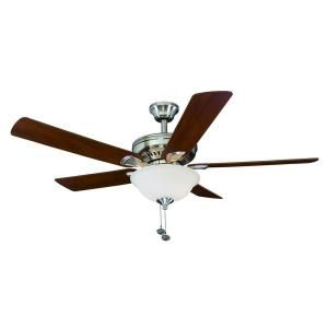 Hampton Bay Campbell II 52 in. Brushed Nickel Ceiling Fan 51459