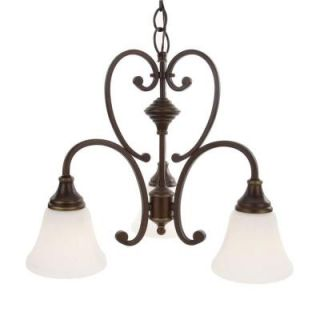 Hampton Bay Somerset Collection 3 Light Bronze Chandelier GEX8193A 3