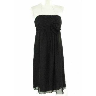 Suzi Chin Dress, Strapless Chiffon Dress with Rosette